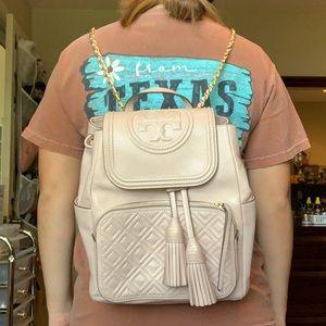 Tory Burch Fleming Light Pink Backpack